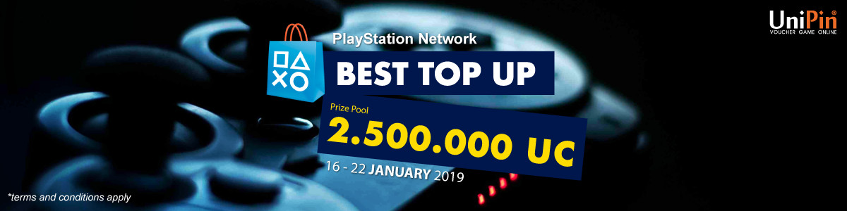 UP - [Event] Top Up and Get the Bonus with PS Network Card
