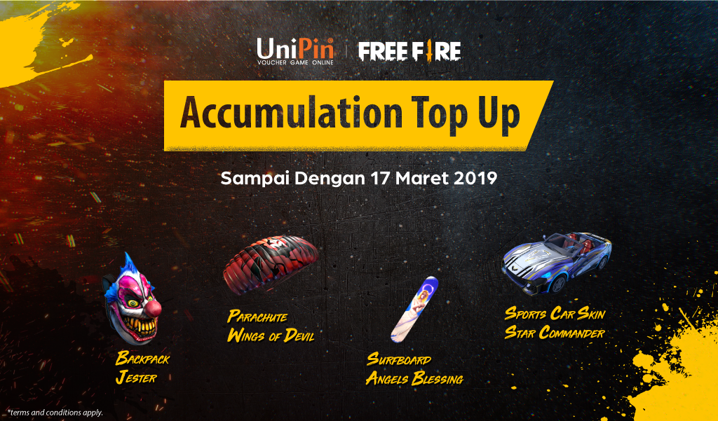 [Promo] Free Fire – Accumulation Top Up and Get Item
