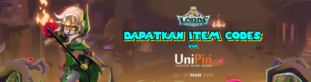 UP - Lords Mobile - Get your Item Code only on UniPin
