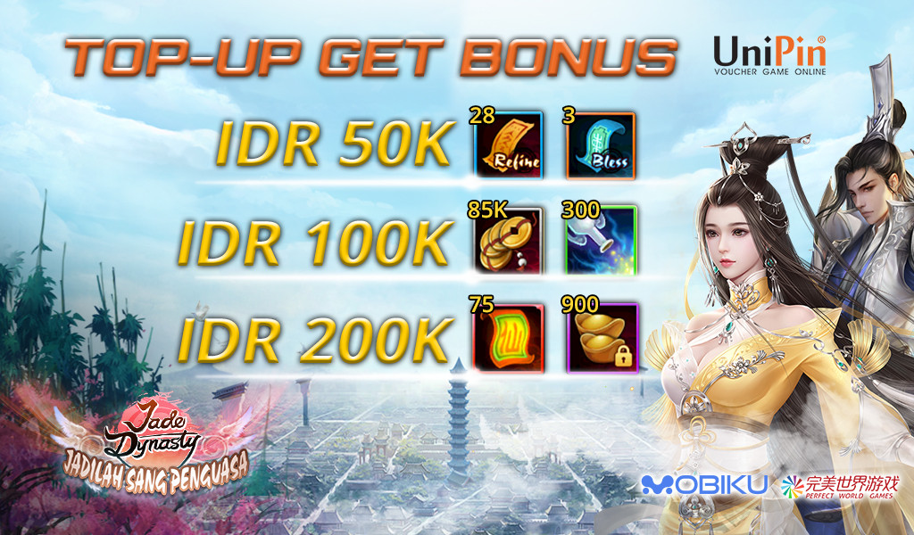 [Promo] Jade Dynasty : Top Up Tael and Get Bonus