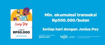 Everyay Cashback Rp 50.000 Top Up With Jenius Pay