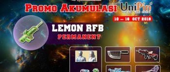 Merapat! Top up XSHOT di UniPin dapat Lemon RFB PERMANENT dan 70% Cashback UniPin Credits!