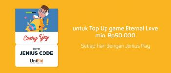 Top Up with JeniusPay and Get Free Jenius Code Eternal Love