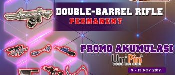 Merapat! Top up XSHOT di UniPin dapat Double-Barrel Rifle PERMANENT dan 70% Cashback UniPin Credits!