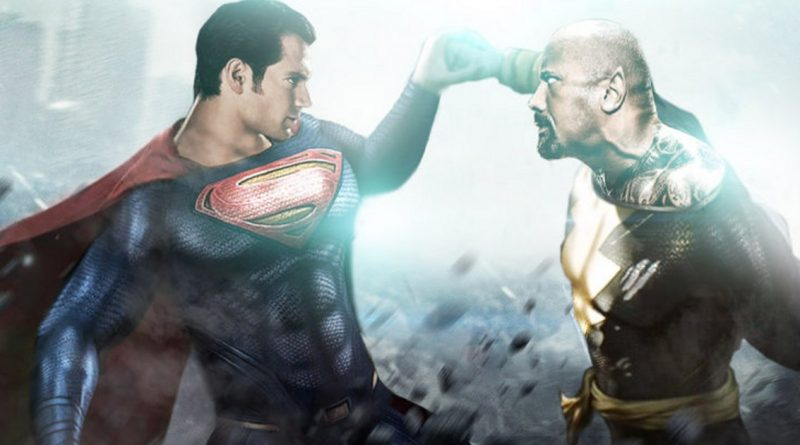 dwayne-johnson-black-adam-henry-cavill-superman-shazam