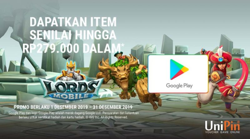 BELI KODE VOUCHER GOOGLE PLAY DAPAT ITEM LORDS MOBILE!