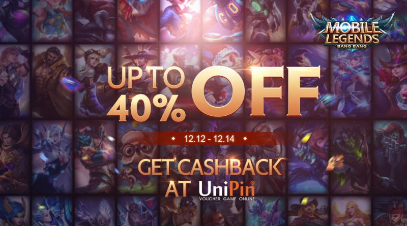 MLBB x UniPin 12.12 Big Sale! Up to 40% Off and cashback 12% UniPin Credits!