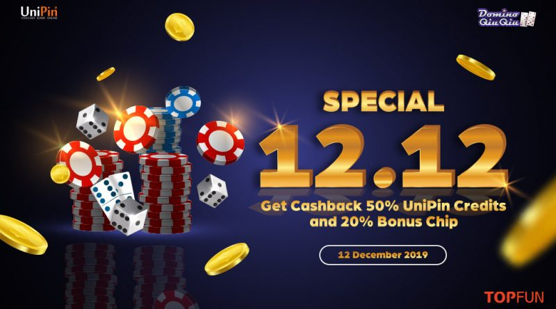 Flash Sale 12.12! Nikmati double Untung dari Domino QiuQiu-Top Fun dan UniPin!