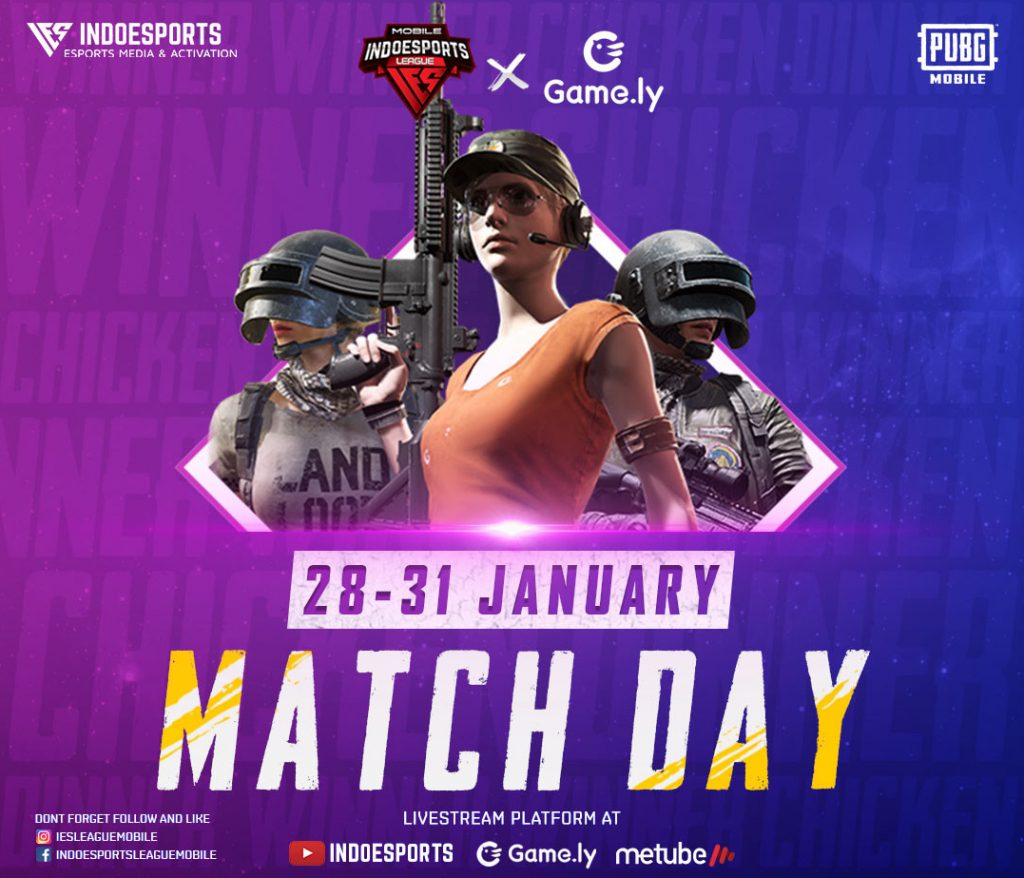 MATCH DAY INDOESPORTS League Mobile PUBG M S1.