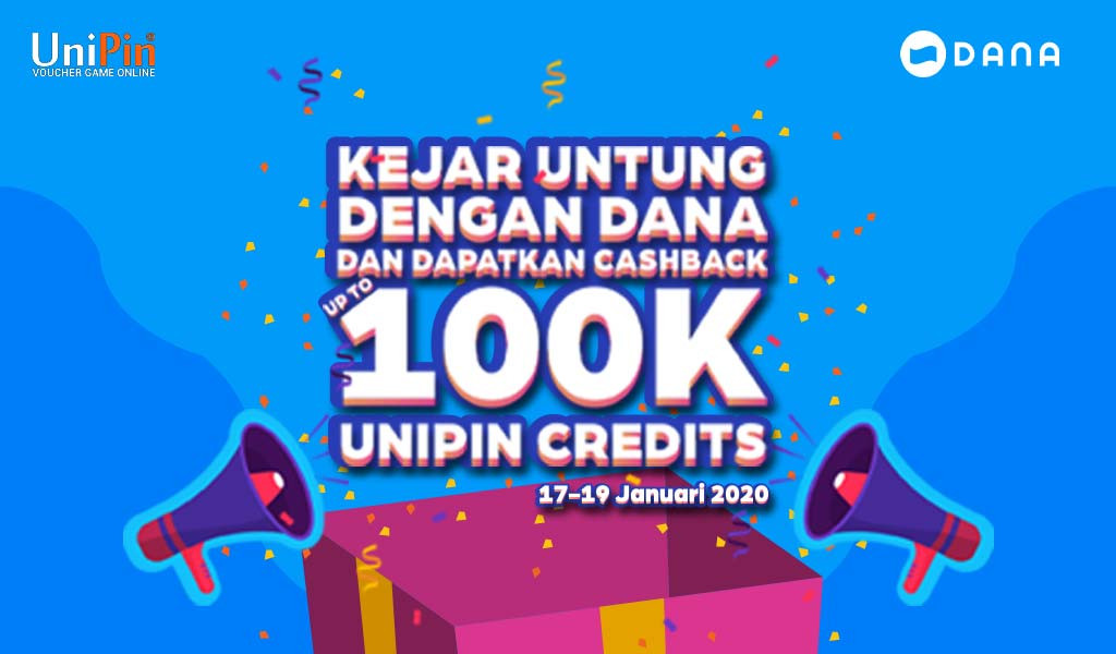 #GantiDompet sekarang Top Up UniPin Credits dengan DANA dapatkan CASHBACK HINGGA 100.000 Sekarang Juga!