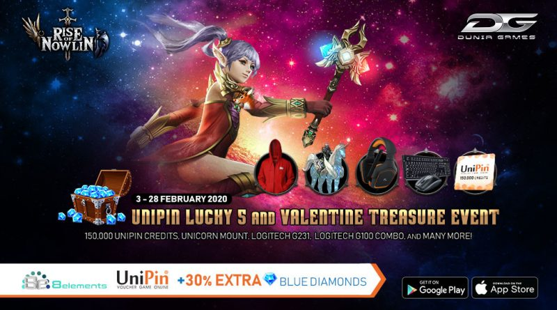 [UniPin x Rise of Nowlin] Extra 30% Diamonds in Lovely Month!