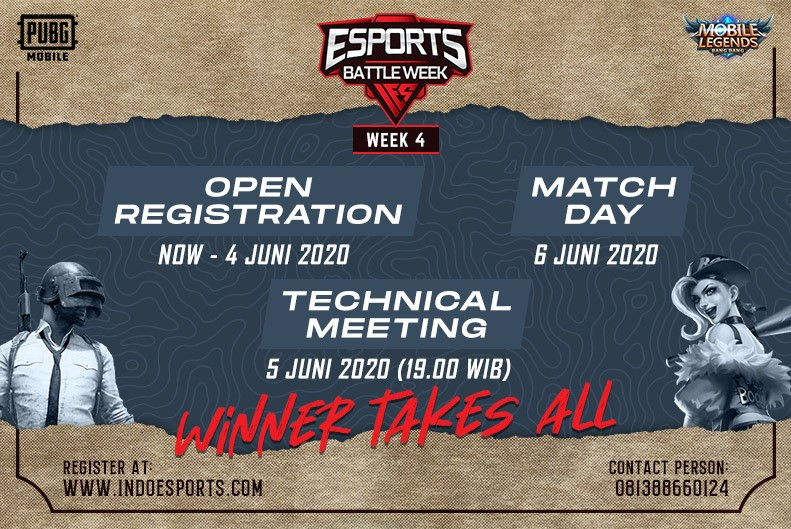 Esports Battle Week #4 PUBGM dan MLBB open regist