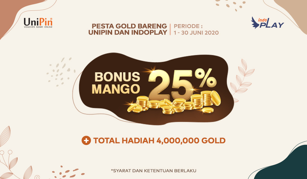 Pesta Gold Bareng UniPin dan indoPlay