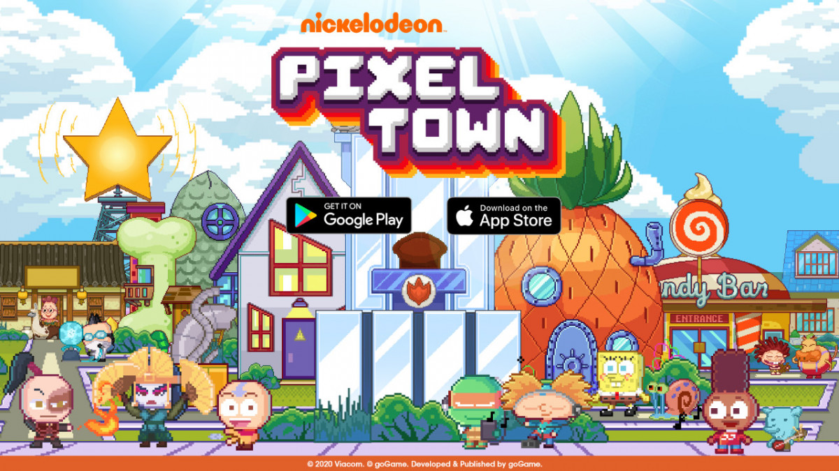 Download dan Mainkan Nickelodeon Pixel Town Hari Ini!
