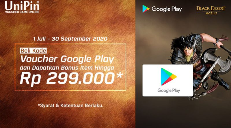 Beli Kode Voucher Google Play di UniPin Dapat Bonus Item Berkali-kali!