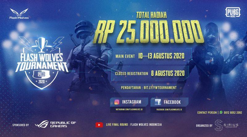 upstation - Flash Wolves Indonesia Gelar Turnamen PUBG Mobile, Hadiah Puluhan Juta!