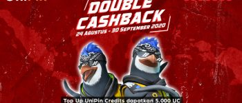 Double Cashback! Top Up UniPin Credits dapatkan 5.000 UC + 1 GB kuota internet im3 ooredoo