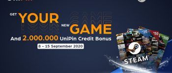 Steam New Game – New prize, dapetin bonus UniPin Credits Hingga 2 juta!!
