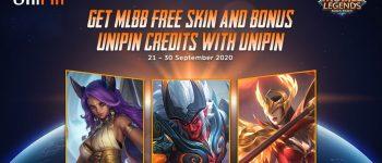 Dapatkan MLBB Skin Secara Gratis dan Bonus UniPin Credits Bersama UniPin!