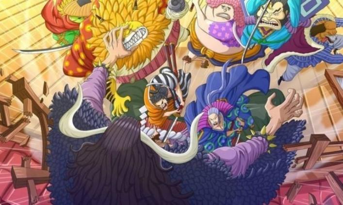 upstation - Spoiler Manga One Piece 993: Kaido Tumbang, Tangan Kiku Putus di Medan Perang!