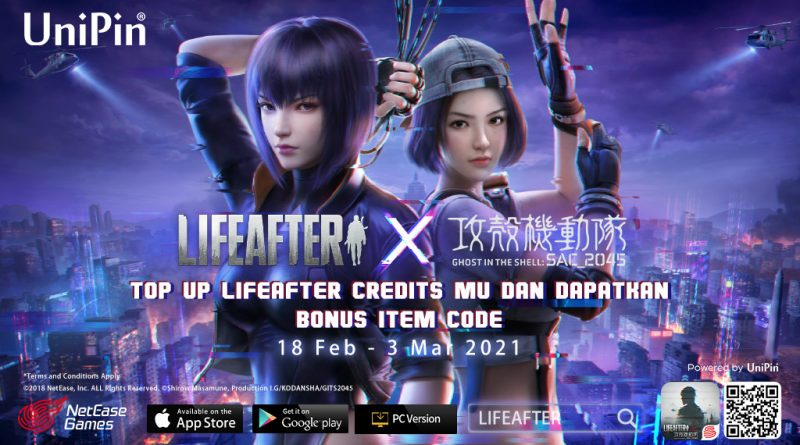 LifeAfter x Ghost in the Shell, Dapatkan Item Code Eksklusif!