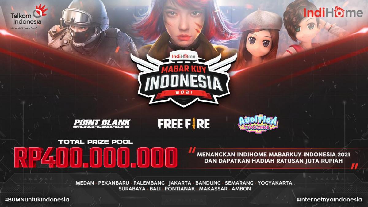 Total Hadiah 400 Juta, Yuk Ikutan Event IndiHome MabarKuy Indonesia 2021!
