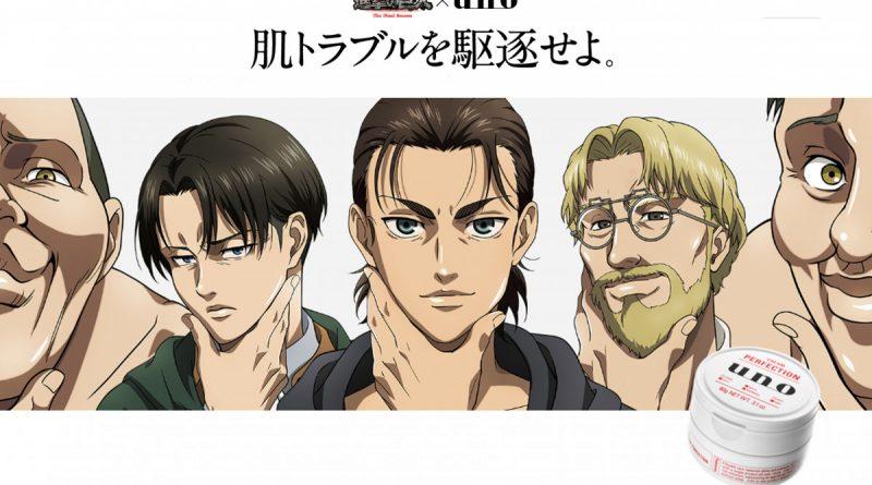 Unik! Serial Anime Attack on Titan Gandeng Shiseido Uno Hadirkan Produk Skincare