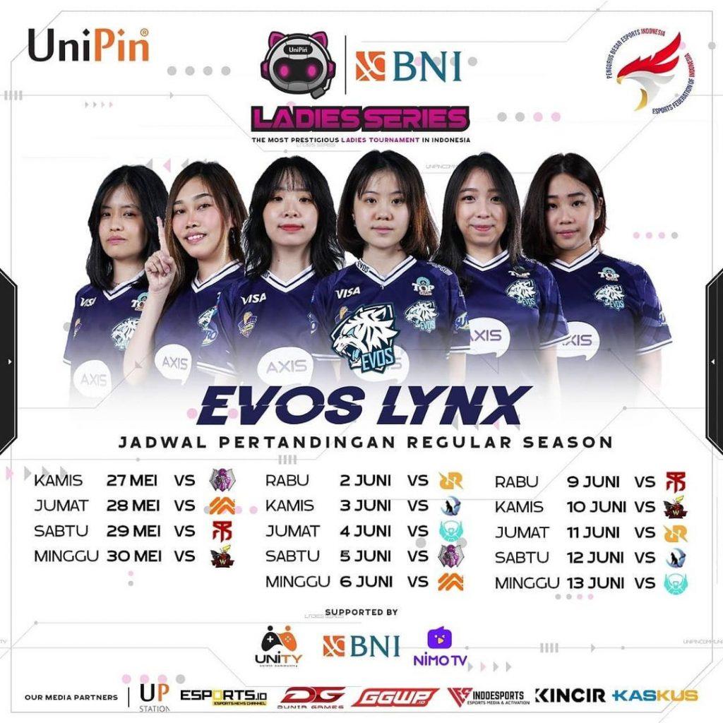 Jadwal Evos Lynx W1