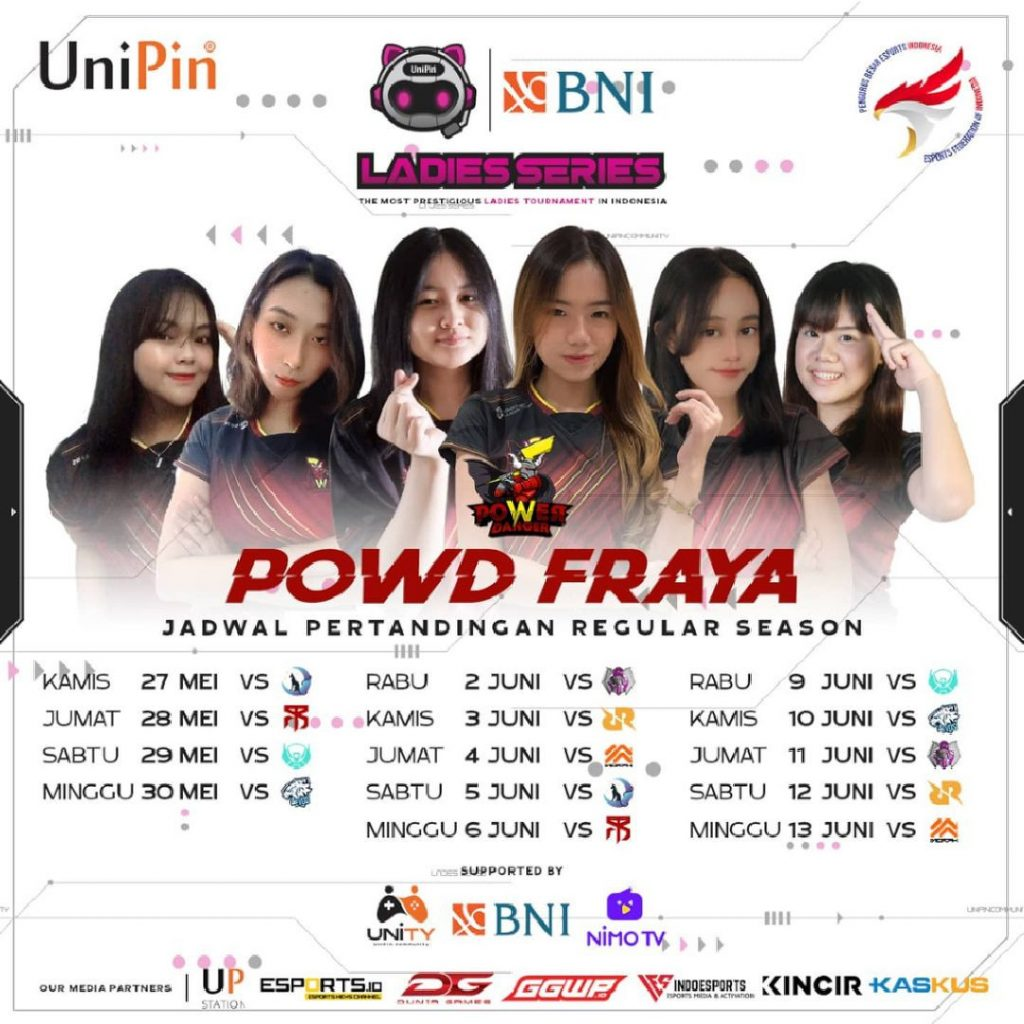 Jadwal Powd Fraya W1