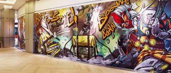 Hublife x Free Fire Hadirkan Pop Art Wall Free Fire Pertama di Indonesia