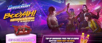 Top up Free Fire, Dapatkan special item code dan Sosro Fruit Tea secara gratis di Indomaret