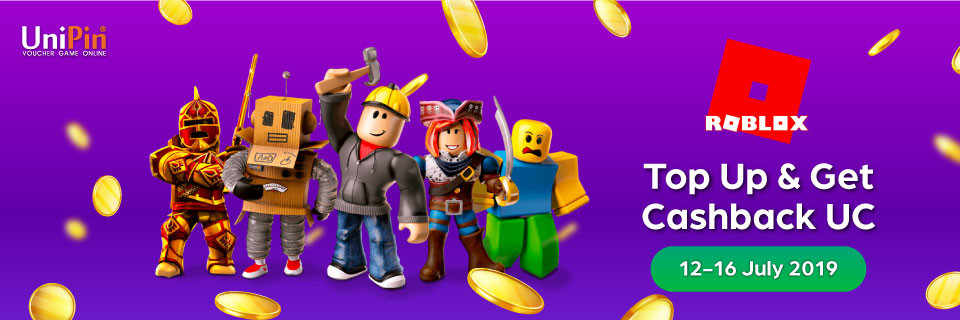 Top-up Roblox on UniPin Now and Get UniPin Credits Cashback!