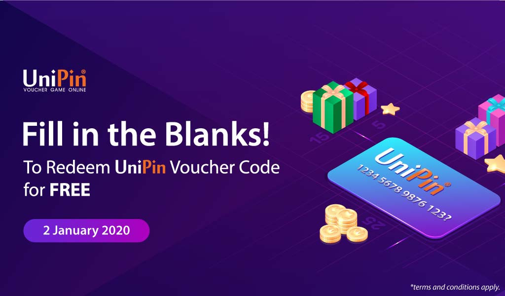 Fill in the blanks and win the UniPin voucher code!