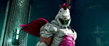 Turn the Doomslayer into a hot pink unicorn with this exclusive Twitch Prime skin