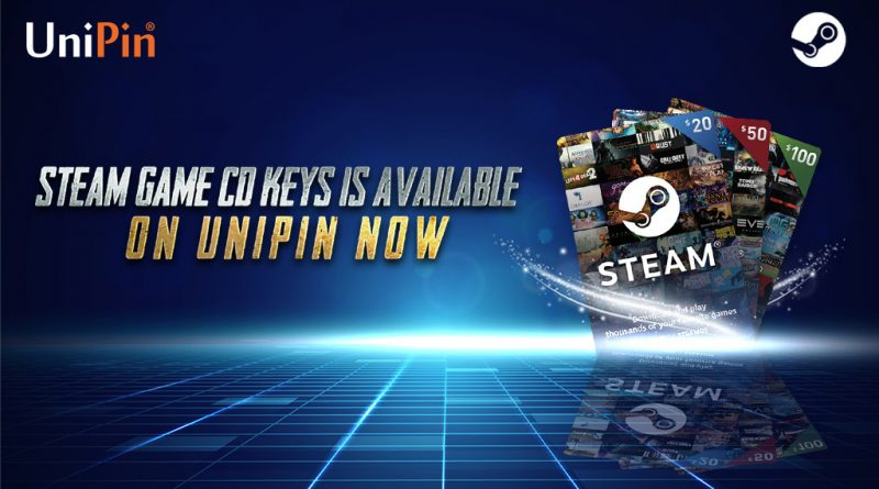 Steam Game CD Keys is Available on UniPin now!
