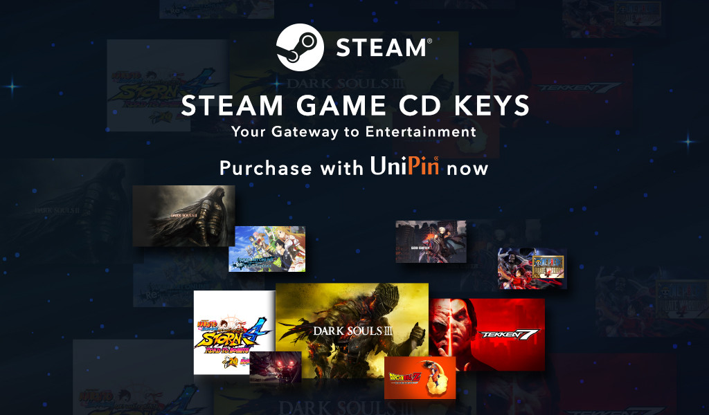 Get Steam Game CD Keys in UniPin-Your Gateway to Entertainment!