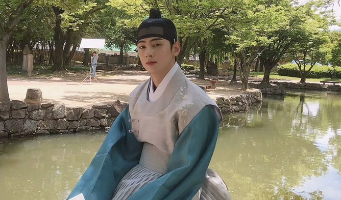 "ASTRO's Cha EunWoo Is The Cutest When He Excitedly Discovered This On The Set Of Drama ""Rookie Historian Goo Hae Ryung"""