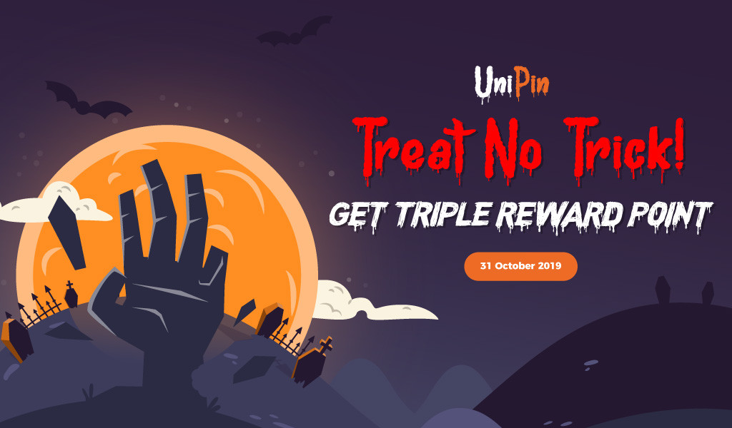 UniPin Halloween : Treat no Trick, Triple Reward!