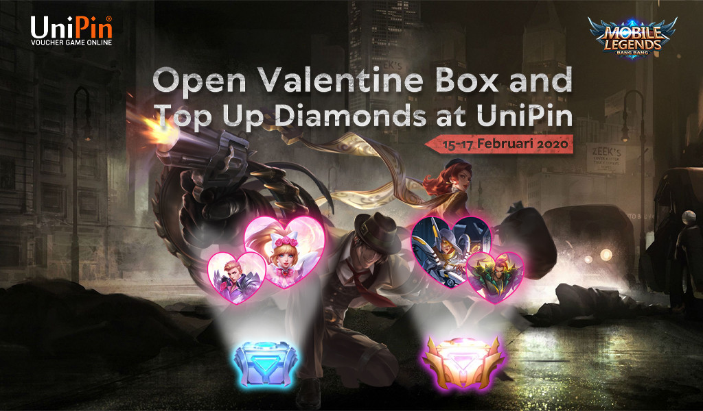 Open Valentine Box and Top Up Diamonds at UniPin!